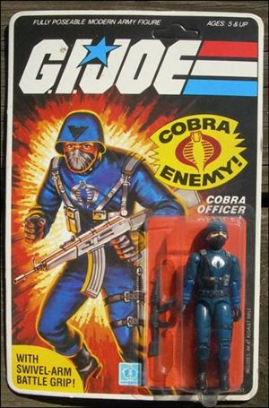 "G.I. Joe: A Real American Hero 3 3/4"" Basic Action Figures Cobra Officer (The Enemy) - Swivel Arm"
