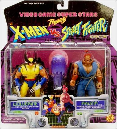 X-Men vs Street Fighter Wolverine vs Akuma by Toy Biz