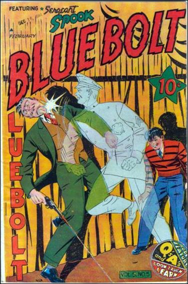 Blue Bolt (1944) 5-A by Novelty Press