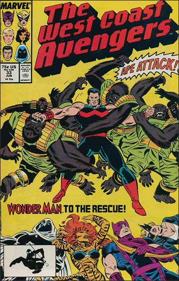West Coast Avengers (1985) 33-A by Marvel