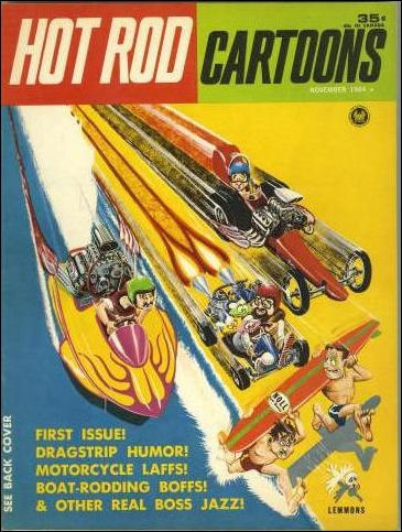 hot rod cartoons 1 a nov 1964 comic book by petersen. Black Bedroom Furniture Sets. Home Design Ideas