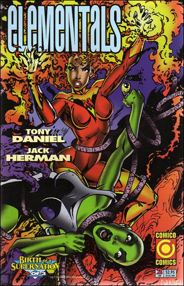 Elementals (1995) 2-A by Comico