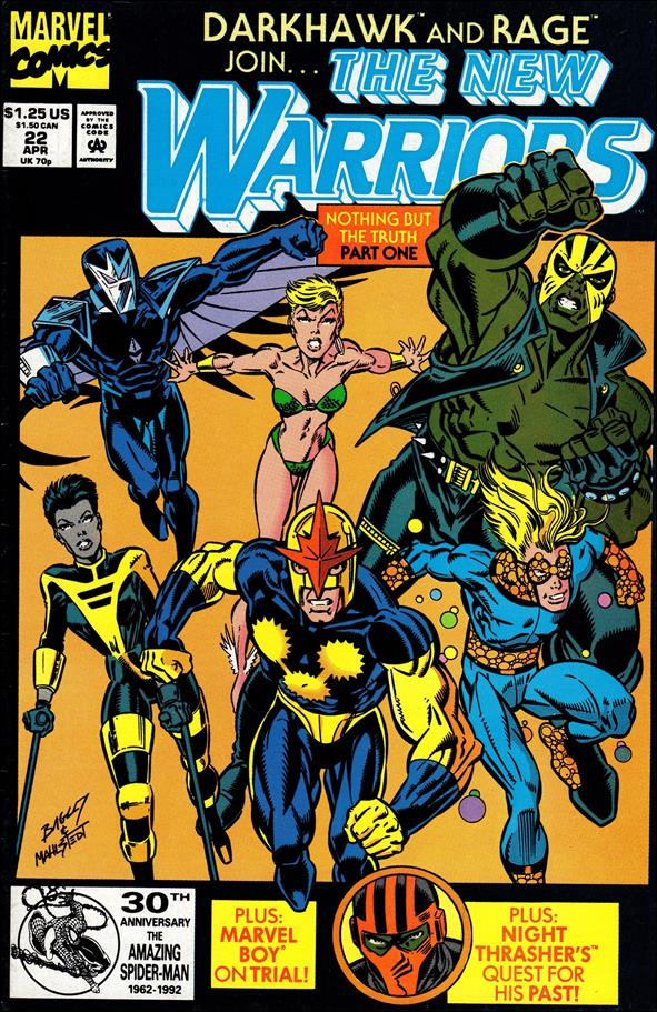 New Warriors (1990) 22-A by Marvel