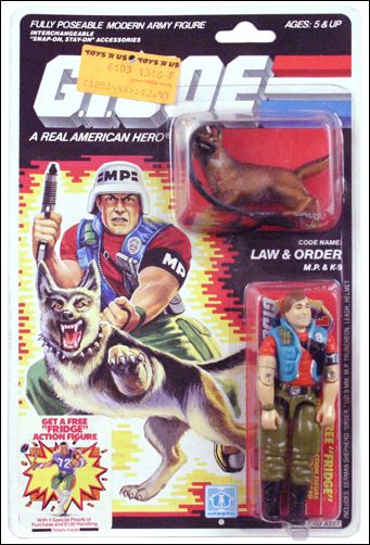 """G.I. Joe: A Real American Hero 3 3/4"""" Basic Action Figures Law & Order (M.P. & K-9) by Hasbro"""