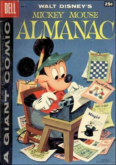 Mickey Mouse Almanac 1-A by Dell