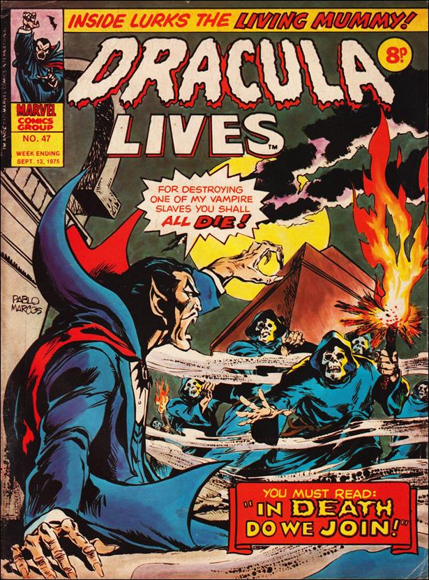 Dracula Lives (UK) 47-A by Marvel UK