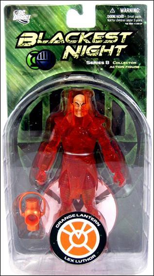 Blackest Night (Series 8) Orange Lantern Lex Luthor by DC Direct
