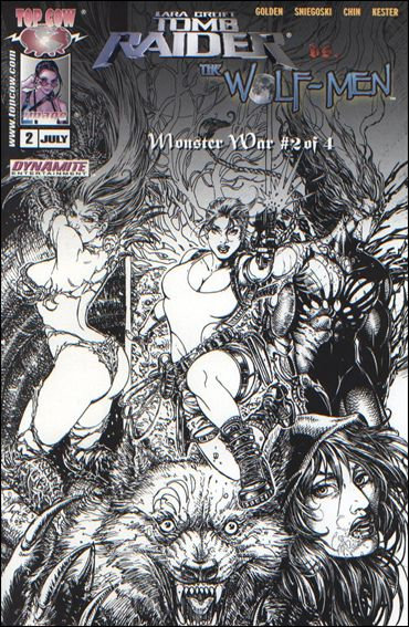 Tomb Raider vs the Wolf Men: Monster War 2005 2-C by Top Cow