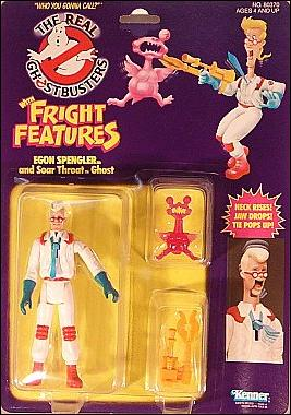 Real Ghostbusters: Fright Features Egon Spengler and Soar Throat Ghost by Kenner
