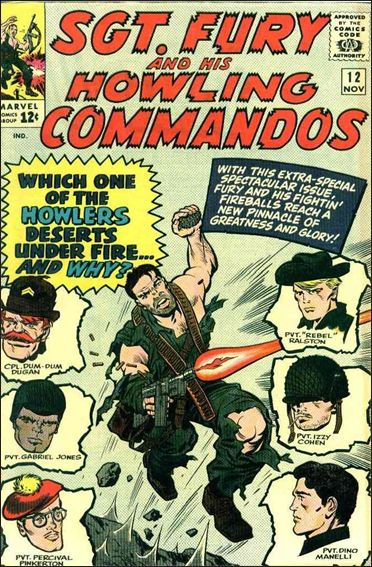 Sgt. Fury and His Howling Commandos 12-A by Marvel