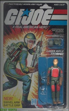 "G.I. Joe: A Real American Hero 3 3/4"" Basic Action Figures Flash (Laser Rifle Trooper) - Swivel Arm"