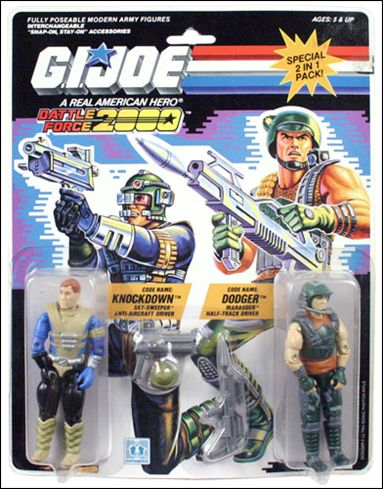G.I. Joe: A Real American Hero (Battle Force 2000) 2-Packs Knockdown and Dodger by Hasbro