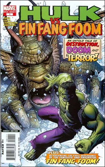Hulk vs Fin Fang Foom 1-A by Marvel