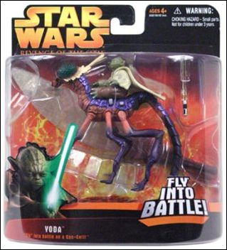 Star Wars Revenge Of The Sith 3 Yoda Fly Into Battle Jan 2005 Action Figure By Hasbro
