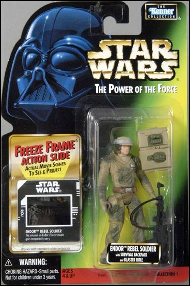 "Star Wars: The Power of the Force 2 3 3/4"" Basic Action Figures Endor Rebel Soldier (Sealt-Marie) w/ Freeze Frame by Kenner"