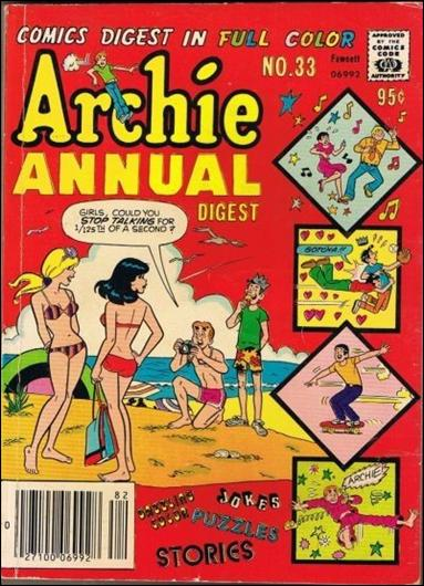 Archie Annual Digest Magazine 33-A by Archie