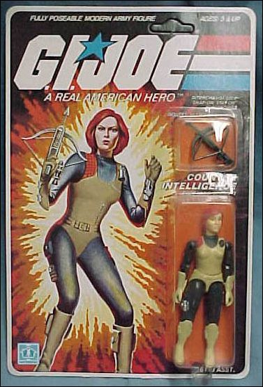 "G.I. Joe: A Real American Hero 3 3/4"" Basic Action Figures Scarlett (Counter Intelligence) by Hasbro"