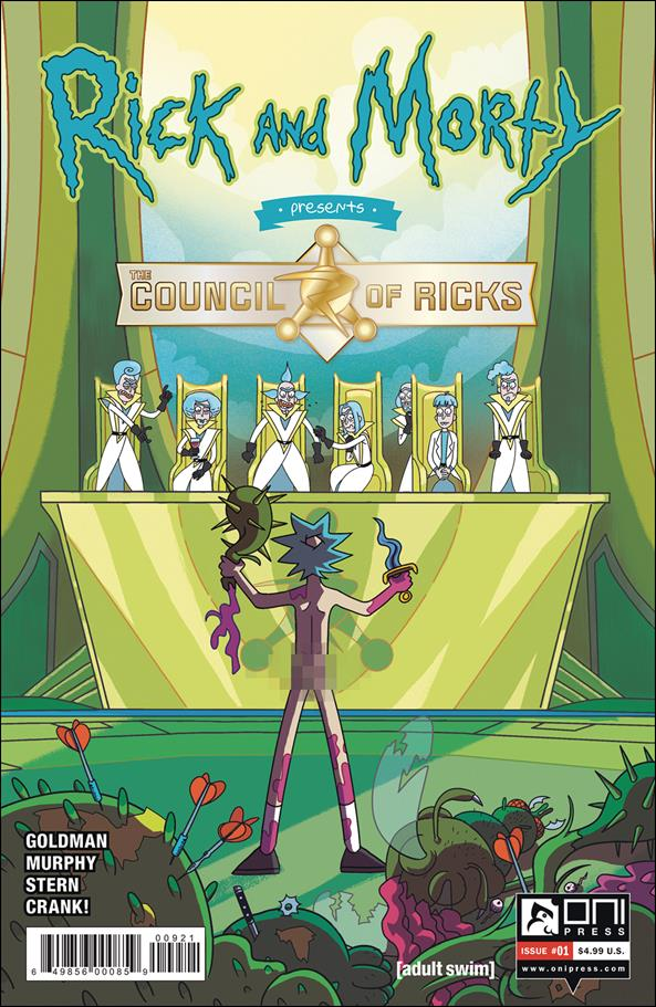 Rick and Morty Presents: The Council of Ricks 1-B by Oni Press