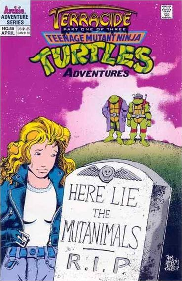 Teenage Mutant Ninja Turtles Adventures (1989) 55-A by Archie