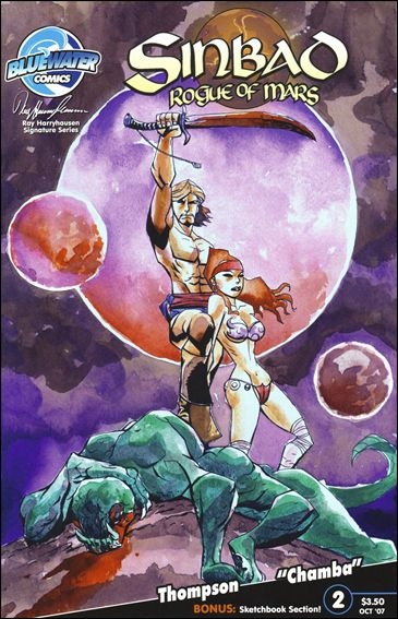 Sinbad: Rogue of Mars 2-A by Bluewater Comics