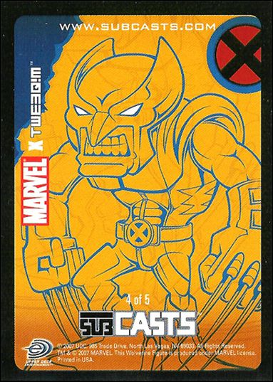 2007 Marvel Masterpieces (Subcasts Gamepiece Subset) 4-A by Upper Deck