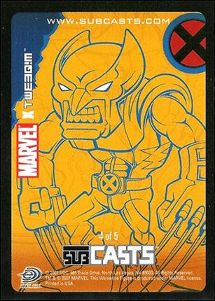 2007 Marvel Masterpieces (Subcasts Gamepiece Subset) 4-A