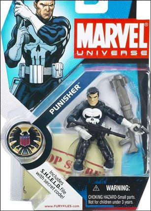 Marvel Universe (Series 1) Punisher (White Gloves)