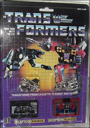 Transformers: More Than Meets the Eye (Generation 1) Ravage and Rumble (Decepticon Cassettes) by Hasbro