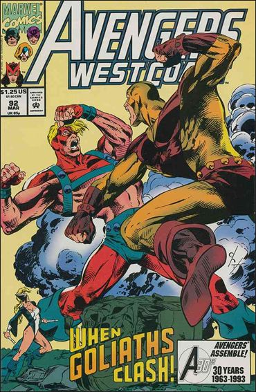 Avengers West Coast 92-A by Marvel