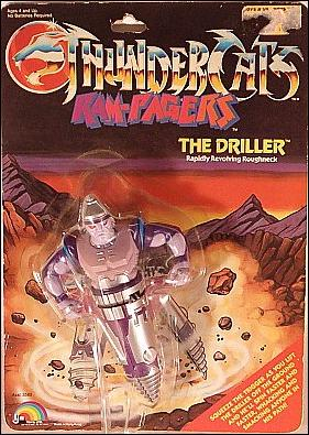 Thundercats Driller on Thundercats  Ram Pagers The Driller  Jan 1987 Action Figure By Ljn