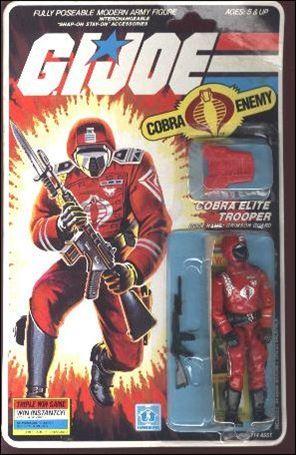 "G.I. Joe: A Real American Hero 3 3/4"" Basic Action Figures Cobra Elite Trooper (Crimson Guard)"