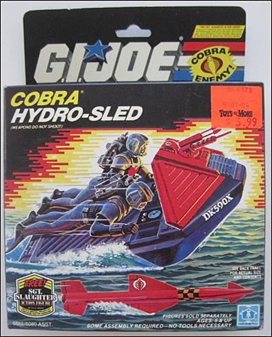 "G.I. Joe: A Real American Hero 3 3/4"" Basic Vehicles and Playsets Cobra Hydro-Sled by Hasbro"