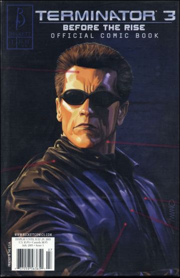 Terminator 3: Before The Rise: Official Comic Book 1-A by Beckett Comics
