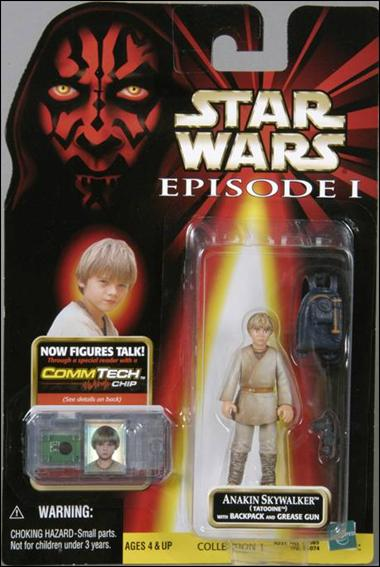"Star Wars: Episode I 3 3/4"" Basic Action Figures Anakin Skywalker (Tatooine) (Blue Pack) (No Logos) by Hasbro"