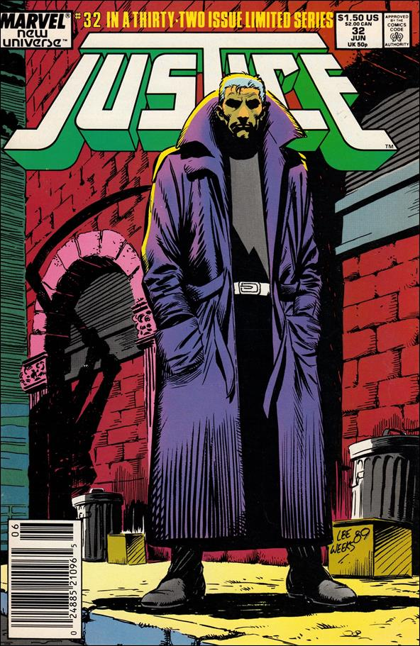 Justice (1986) 32-A by Marvel