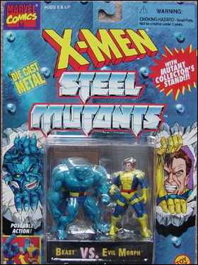 X-Men Steel Mutants (2-Packs) Beast vs Evil Morph by Toy Biz