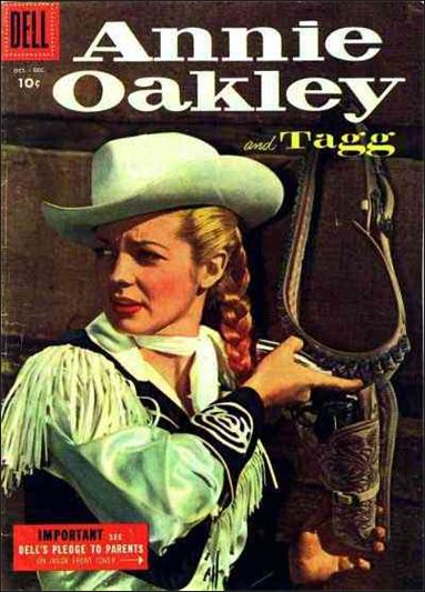 Annie Oakley and Tagg (1955) 5-A by Dell
