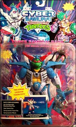Teenage Mutant Ninja Turtles Cy Cyber Samurai Raph Jan 1994 Action Figure By Playmates