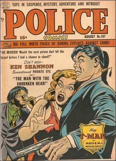 Police Comics 107-A by Comic Magazines