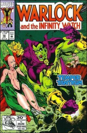 Warlock and the Infinity Watch 12-A by Marvel