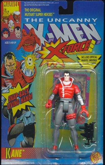X-Men (X-Force) Kane (Snap-Back Living Hand); Red Leg Holster by Toy Biz