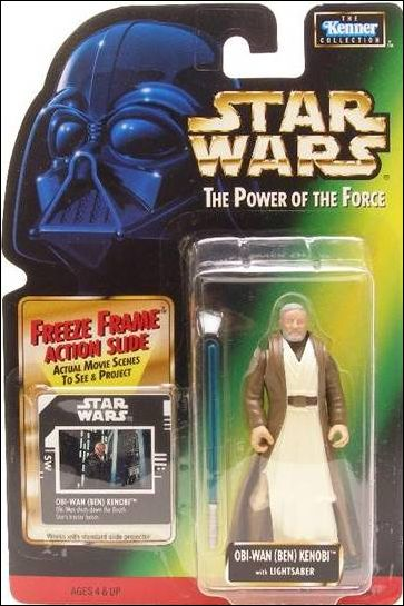 "Star Wars: The Power of the Force 2 3 3/4"" Basic Action Figures Obi-Wan (Ben) Kenobi (Sealt-Marie) w/ Freeze Frame by Kenner"