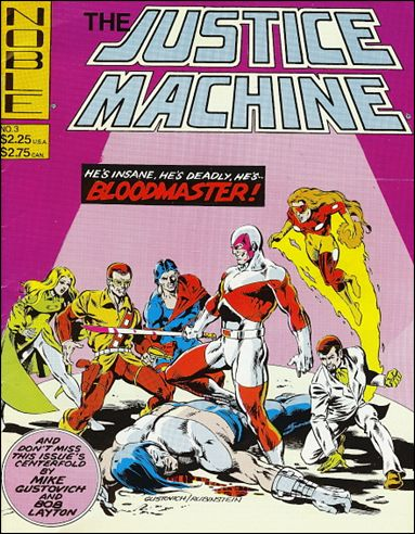 Justice Machine (1981) 3-A by Noble Comics