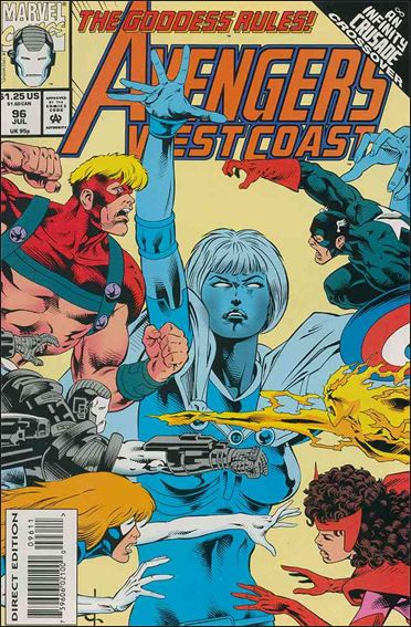 Avengers West Coast 96-A by Marvel
