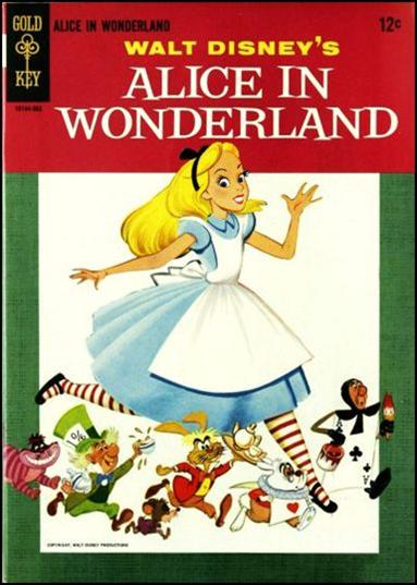 ... Disney's Alice in Wonderland nn A, Mar 1965 Comic Book by Gold Key