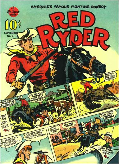 Red Ryder Comics 1-A by Dell