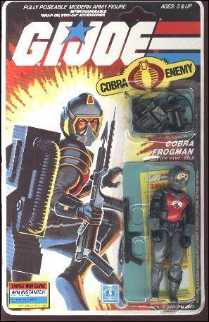 "G.I. Joe: A Real American Hero 3 3/4"" Basic Action Figures Eels (Cobra Frogman) by Hasbro"