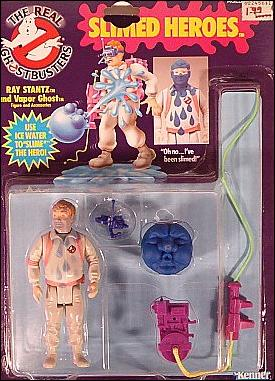 Real Ghostbusters: Slimed Heroes Ray Stantz and Vapor Ghost by Kenner