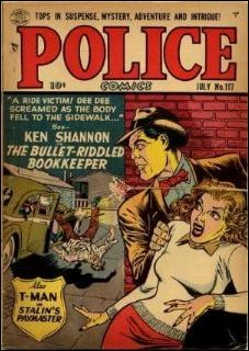 Police Comics 117-A by Comic Magazines