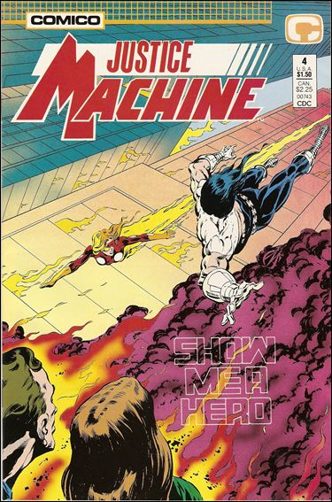 Justice Machine (1987) 4-A by Comico